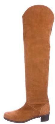 Stuart Weitzman Nubuck Over-The Knee Boots