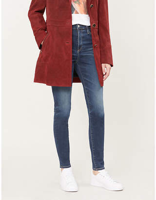 AG Jeans Mila faded high-rise skinny jeans