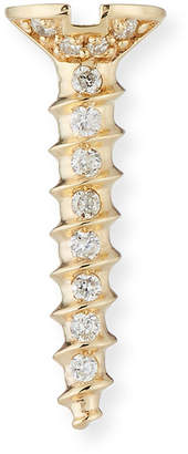 Sydney Evan 14K Gold Diamond Screw Stud Single Earring