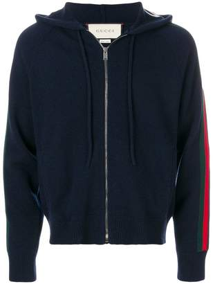 Gucci Web stripe knitted hoodie