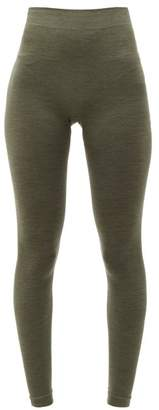 Falke Thermal Wool Blend Leggings - Womens - Green