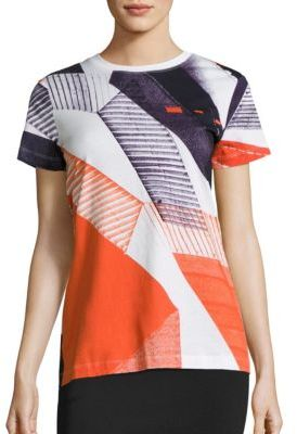 DKNY DKNY Neocity Striped Cotton T-Shirt