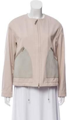 Fabiana Filippi Suede-Accented Zip-Up Jacket