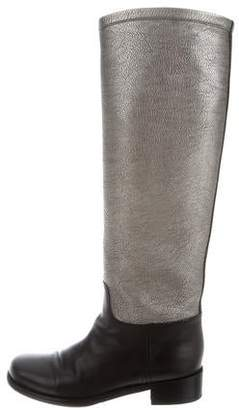 Chanel Bicolor Knee-High Boots
