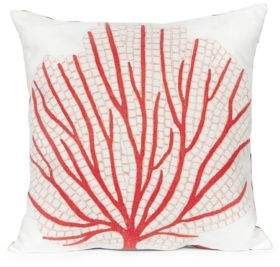 Visions III Coral Fan Indoor and Outdoor Square Pillow