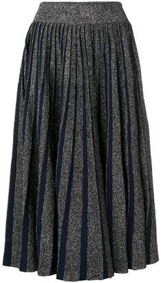 Sportmax pleated lurex midi skirt