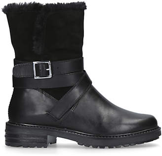 Kurt Geiger London Soldier Ankle Boots, Black Leather