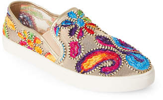 Wanted Gold Renoir Embroidered Mesh Slip On Sneakers