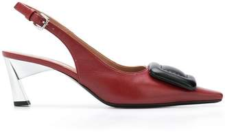Marni square toe pumps