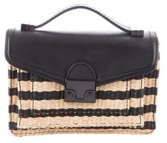 Loeffler Randall Leather-Trimmed Crossbody Bag