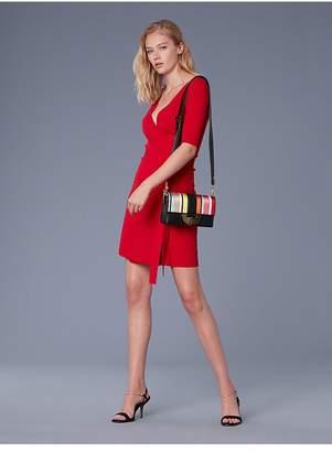 Diane von Furstenberg Short-Sleeve Sweater Wrap Dress