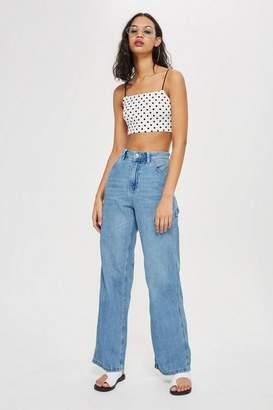 Topshop Bleach Lightweight Jeans