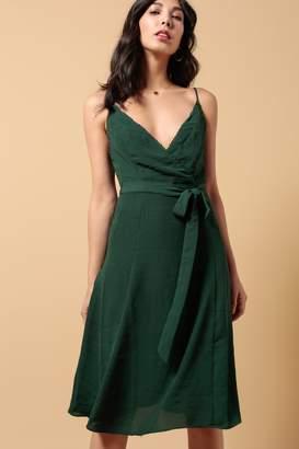 Azalea Lina Solid Strap Self Tie Dress