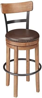 Signature Design by Ashley Ashley Furniture Signature Design - Pinnadel Swivel Bar Stool - Pub Height - Light Brown
