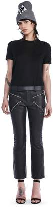 "Alexander Wang Cropped Bootcut Pants With""X"" Zipper Detail"