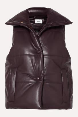 Nanushka Morillo Quilted Vegan Leather Vest - Merlot