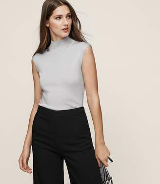 Reiss Gwen High-Neck Knitted Top