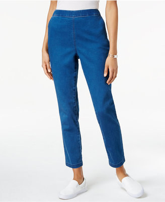 Karen Scott Denim Pull-On Pants, Only at Macy's $44.50 thestylecure.com