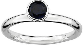 JCPenney FINE JEWELRY Personally Stackable Lab-Created Sapphire Sterling Silver Stackable Ring