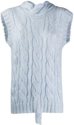 Prada open back knit tank top