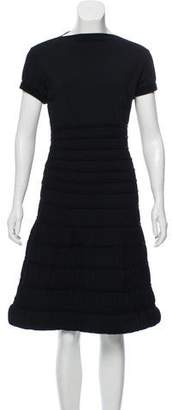 Alaia Ruched Knee-Length Dress