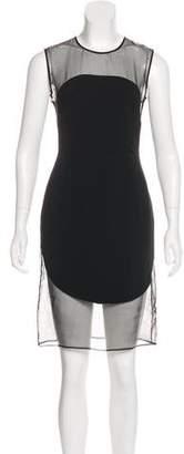 Stella McCartney Silk-Trimmed Geometric Dress w/ Tags