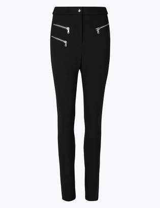 Marks and Spencer Zipped Pocket Skinny Leg Trousers