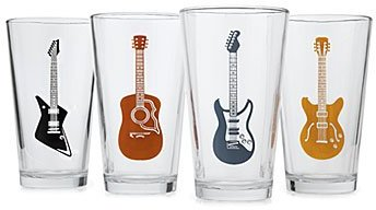 Guitars pint glasses