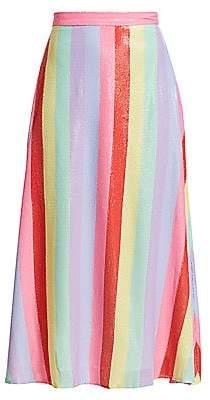 Olivia Rubin Women's Penelope Sequin Rainbow Midi Skirt