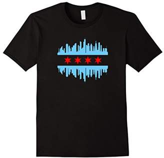 Chicago Flag Skyline T-Shirt - Chicago Shirt
