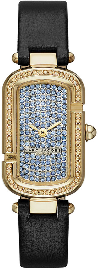 Marc By Marc JacobsMarc by Marc Jacobs Women's The Jacobs Black Leather Strap Watch 20x31mm MJ1553