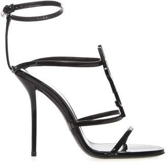615eb05ec Saint Laurent Black Patent Leather Sandals For Women - ShopStyle UK