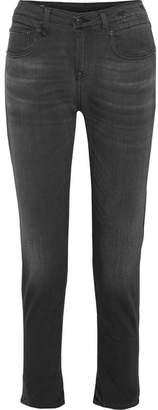 R 13 Boy Slouch Cropped Boyfriend Jeans - Black