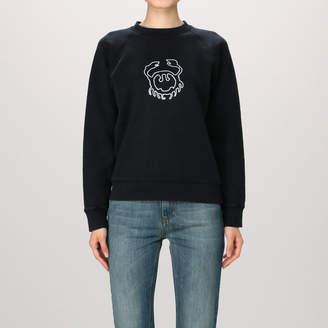 ALEXACHUNG アレクサ・チャン White Flock Crab Print Sweatshirt