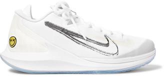 Nike Tennis - NikeCourt Air Zoom Zero HC Rubber-Panelled Mesh Tennis Sneakers - Men - White