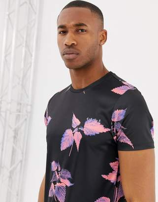 Asos 4505 4505 training t-shirt with floral print and quick dry