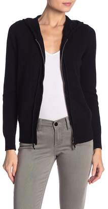 Magaschoni M BY Zip Front Cashmere Sweater Hoodie