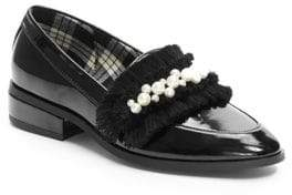 Isaac Mizrahi IMNYC Women's Cena Faux Pearl-Embellished Loafers