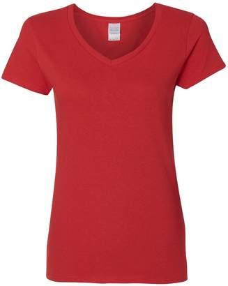 Gildan heavy cotton v-neck t-shirt 5v00l Corn Silk XL