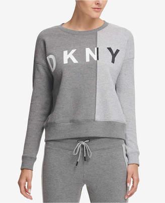 DKNY Sport Colorblocked Fleece Top