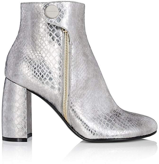 Stella McCartney Women's Faux-Snakeskin Ankle Boots