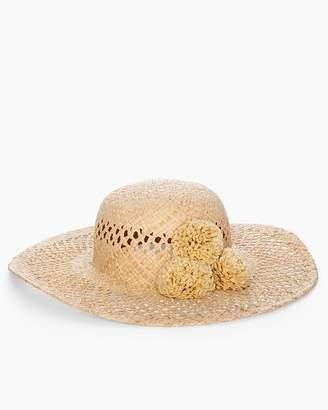 Pom-Pom Straw Hat