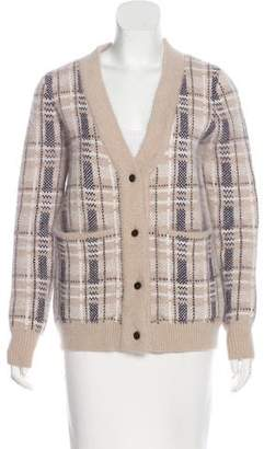 Opening Ceremony Angora-Blend Patterned Cardigan