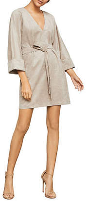 BCBGMAXAZRIA Self-Tie Mini Dress