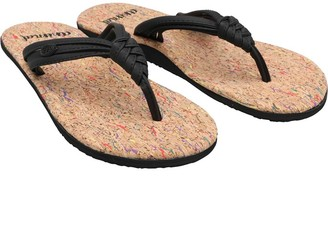 Animal Womens Summer Flip Flops Black