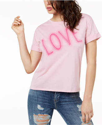 GUESS Love Graphic Cuffed T-Shirt