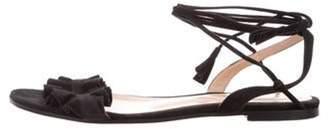 Gianvito Rossi Flora Lace-Up Sandals Black Flora Lace-Up Sandals