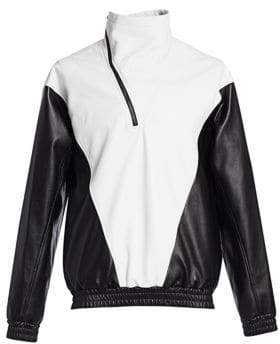Givenchy Leather Asymmetric Windbreaker