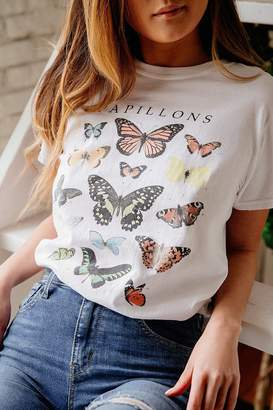 Urban Outfitters Butterfly Crew-Neck Tee