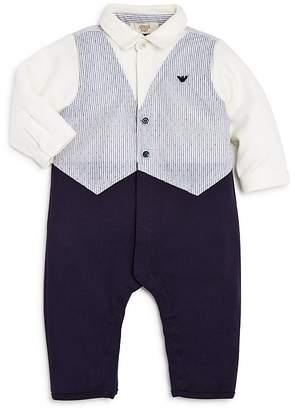 Armani Junior Boys' Vest, Shirt & Pants Coverall - Baby